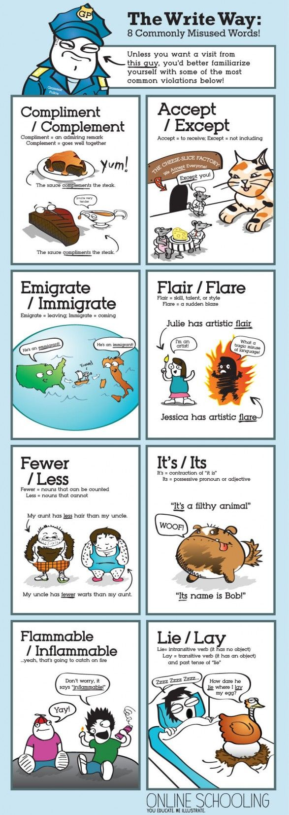 The Write Way: 8 Commonly Misused Words!