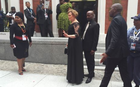 DA leader Helen Zille arrives at Parliament for the 2015 State of the Nation address. Picture: Thomas Holder/EWN