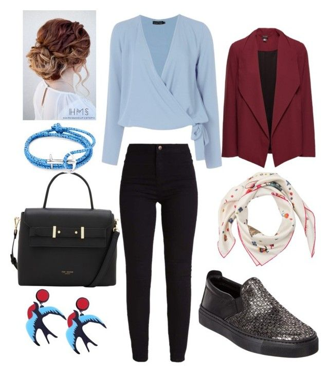 office casual by dasturi-roxana-gabriela on Polyvore featuring polyvore fashion style Boohoo The Flexx Ted Baker Anchor & Crew Salvatore Ferragamo clothing