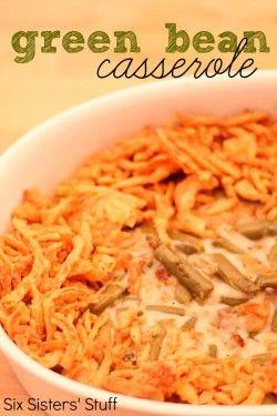 Green Bean Casserole Recipe | Six Sisters' Stuff