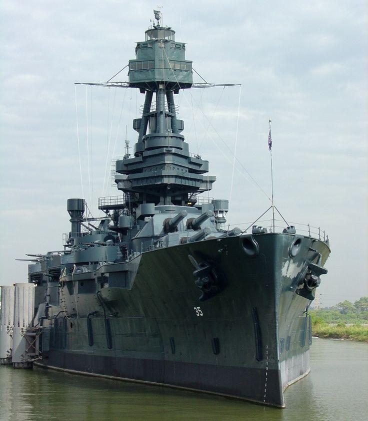 USS Texas BB35 museum ship located at San Jacinto