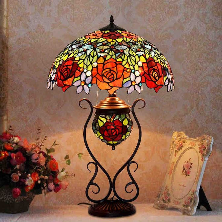 (420.85$)  Buy here  - Butterfly Tiffany Lamp Antique Table Lamp European Style Garden Art Glass Stained Glass Lamps Bedroom Living Room Tiffany Lamp
