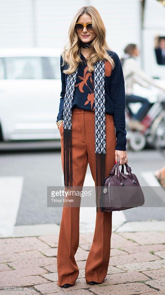 Olivia Palermo seen during Milan Fashion Week Spring/Summer 2017 on September…