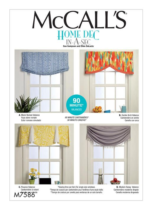 Genial McCallu0027s Home Decor Sewing Pattern. M7586 Window Valances