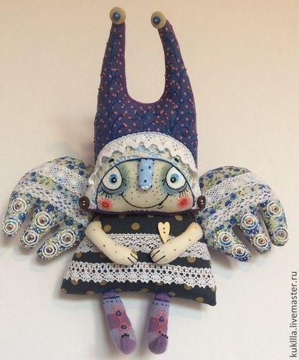 Добрый ангел - синий,ангел,ангелочек,авторский ангел,авторская кукла,подарок новорожденному