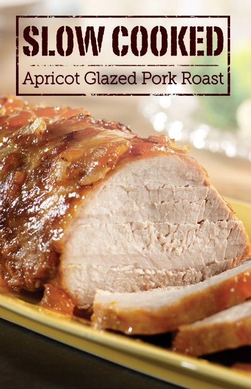 The tangy glaze of apricot preserves, mustard, and onion in this recipe is genius! Try making Slow Cooked Apricot Glazed Pork Roast for a holiday dinner.