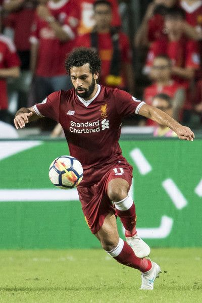 Liverpool FC forward Mohamed Salah in action during the Premier League Asia Trophy match between Liverpool FC and Leicester City FC at Hong Kong Stadium on July 22, 2017 in Hong Kong, Hong Kong.