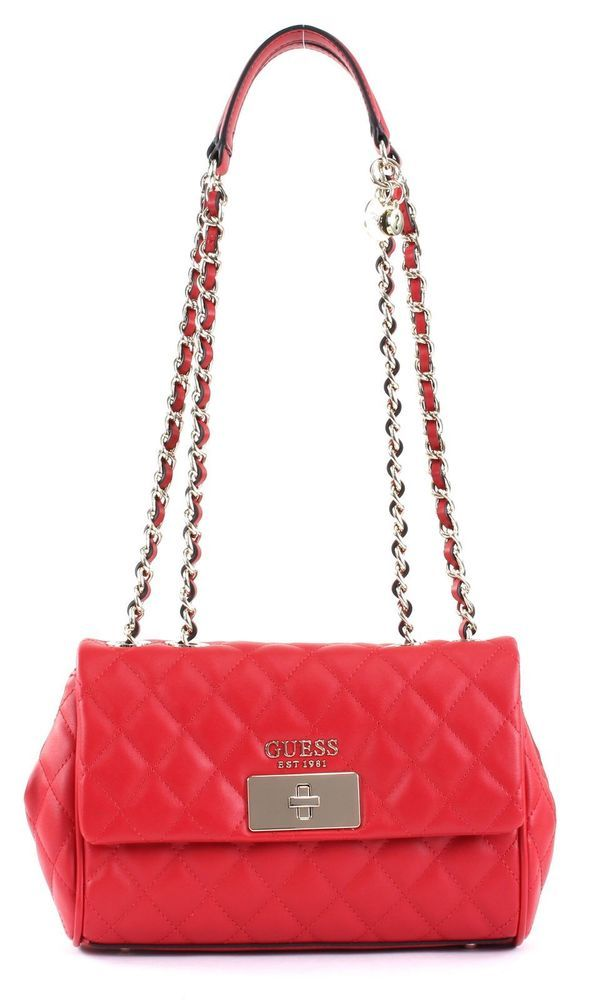 Rote GUESS Handtasche SWEET CANDY MINI XBODY TOP ZIP