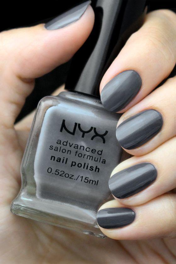 NYX Advanced Salon Formula Grey Nail Polish
