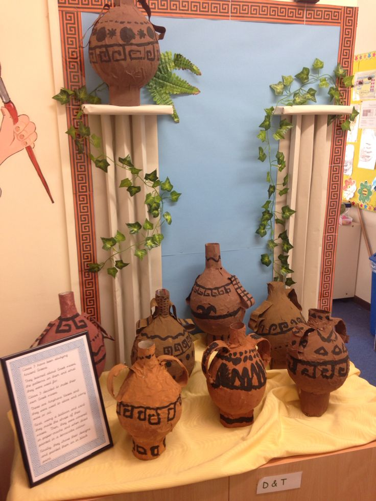 Ancient Greece vases display
