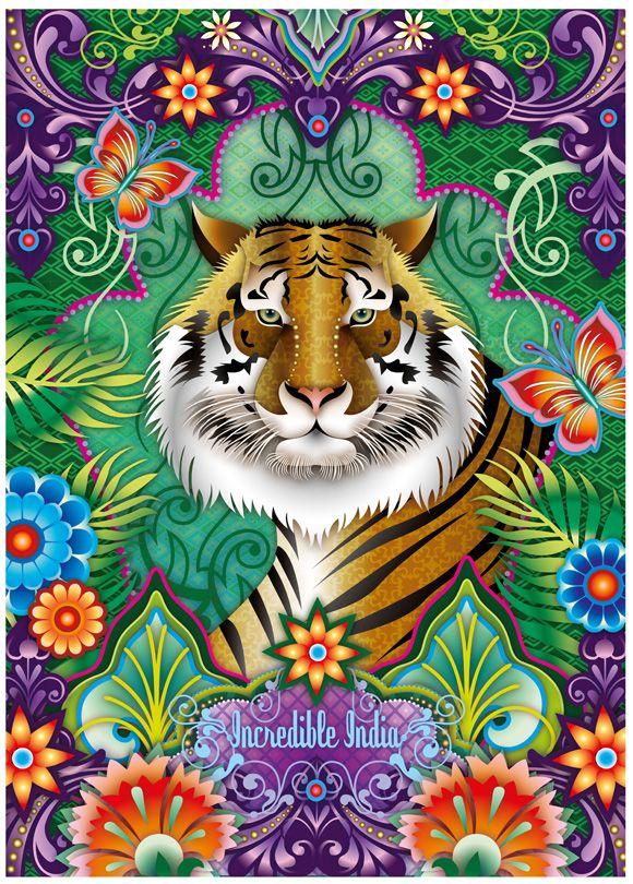 Love this tiger design by Catalina Estrada