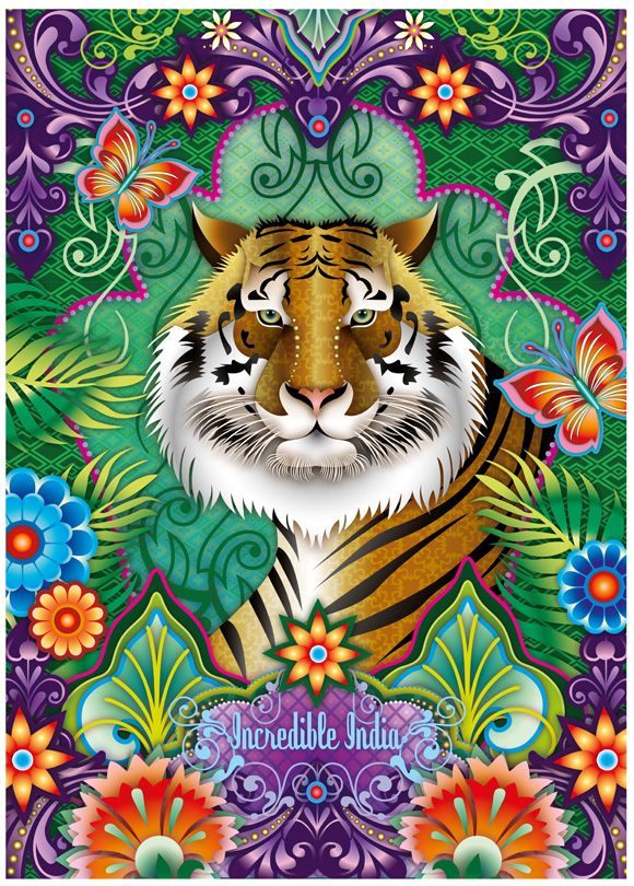 Love this tiger design by Catalina Estrada