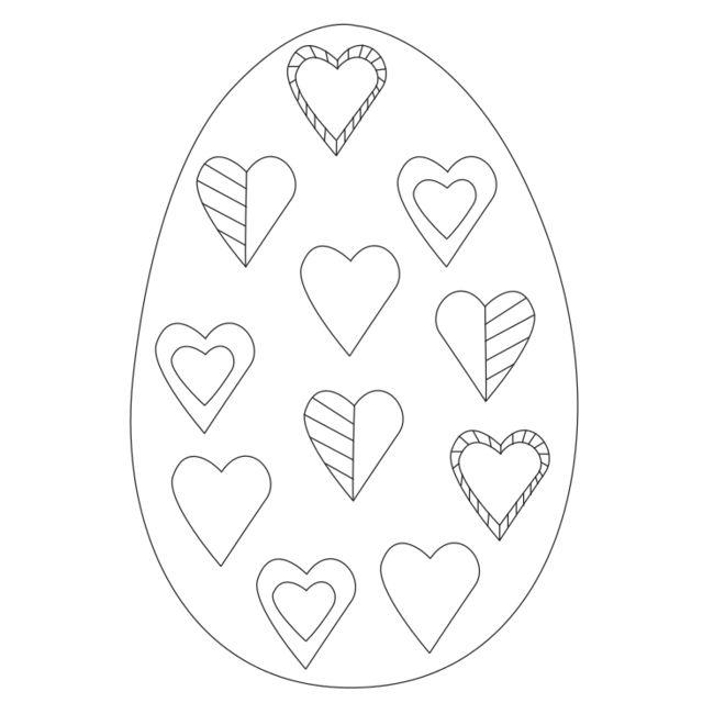 uova di Pasqua da colorare da www.kigaportal.com