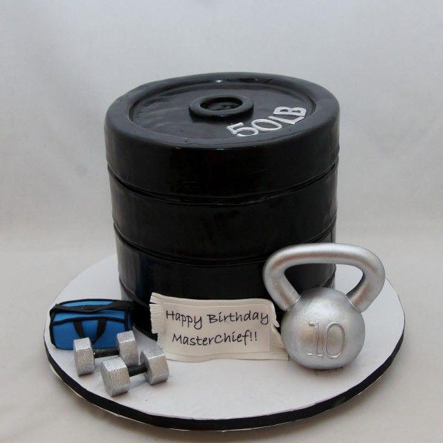 Barbell Birthday Cake