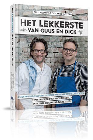 Primeur: Guus Meeuwis brengt kookboek uit in samenwerking met sterrenchef Dick Middelweerd: Het lekkerste van Guus en Dick, een boek vol smakelijke hits.