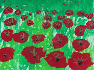 1st grade field of poppy paintings