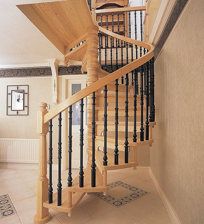 26 best images about hall stairs and landings on pinterest for Square spiral staircase plans hall