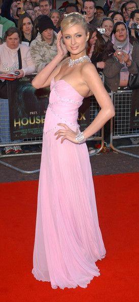 More Pics of Paris Hilton Evening Dress