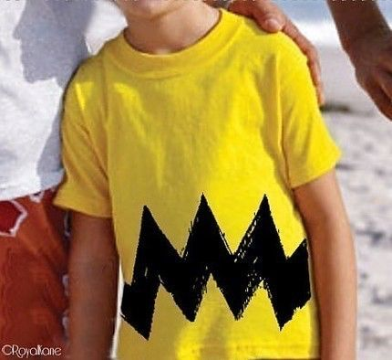 Cartoon Charlie Yellow Black Zig Zag boy girl childrens peanuts 6m 12m 18m 2T 3T 4T 5/6 FUNNY toddler costume classic cartoon brown T-Shirt by Royalkane on Etsy https://www.etsy.com/listing/58444061/cartoon-charlie-yellow-black-zig-zag-boy