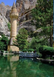 Somuncu Baba mosque ( Turkey ) with its pool of sacred trout.   by shirin-gol