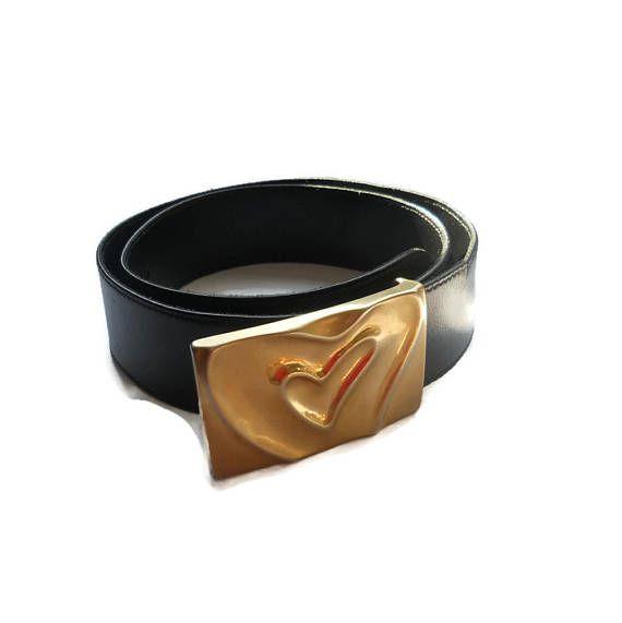 Escada brand Belts  Woman accessories Black leather belt