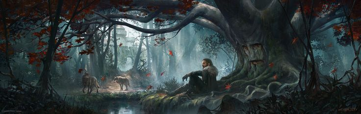 Wolves of the North, Cristi Balanescu on ArtStation at https://www.artstation.com/artwork/YPzYq