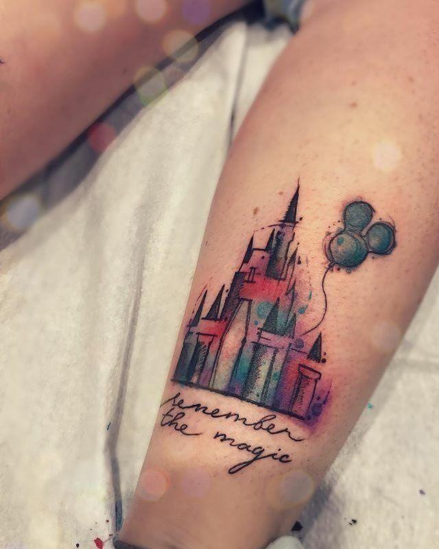 Disney castle tattoo #disney #disneytattoo #disneytattoos