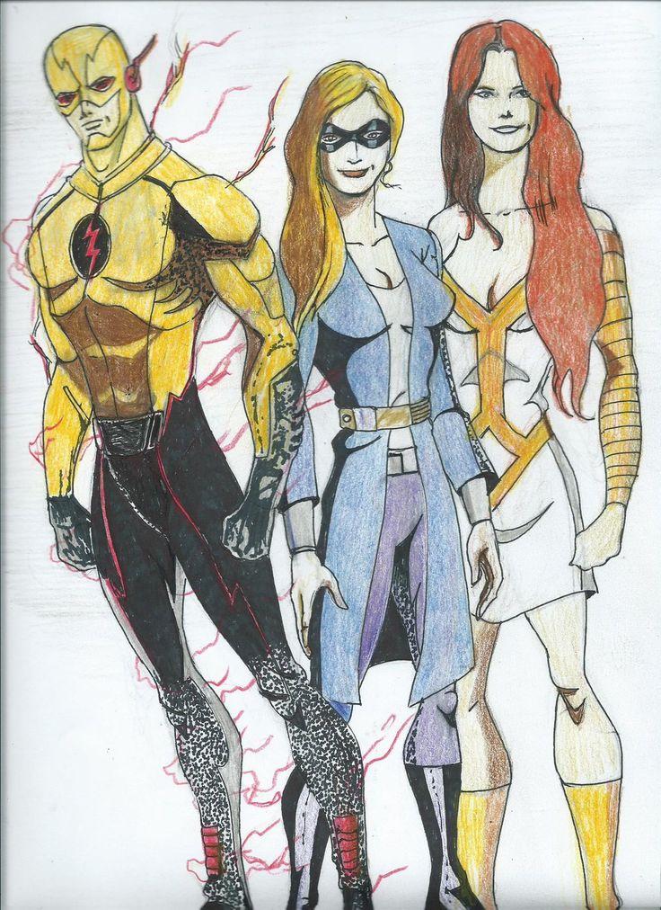 Reverse Flash, Bug Eyed Bandit, Golden Glider by 94beyond.deviantart.com on @DeviantArt