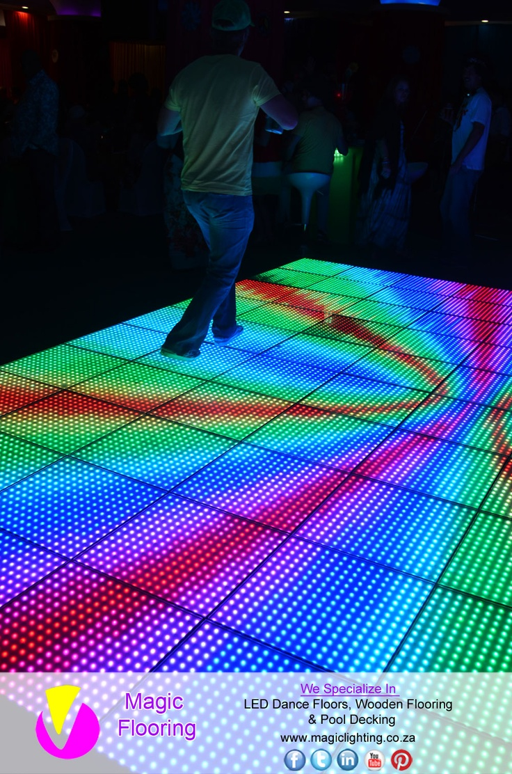 LED Dance Floor   Image Copyright of Magic Flooring   For info contact Magic Lighting on   +27 31 462 9473 / sales@