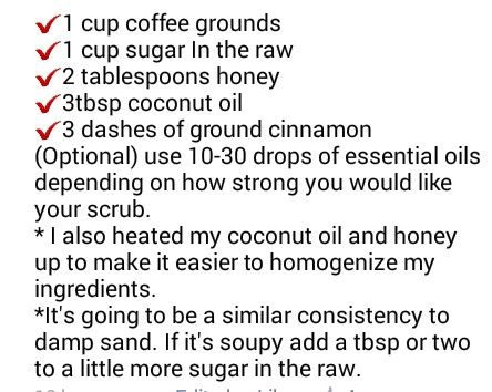 Coffee scrub for cellulite and spider veins