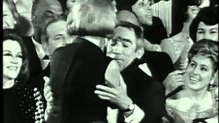 """Lila Kedrova winning Best Supporting Actress for her performance in """"Zorba the Greek"""" at the 37th Academy Awards® in 1965. Presented by Karl Malden., via YouTube."""