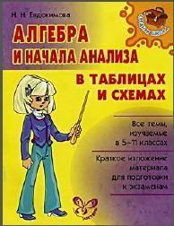 Алгебра и начала анализа в таблицах и схемах, Евдокимова Н.Н., 2008
