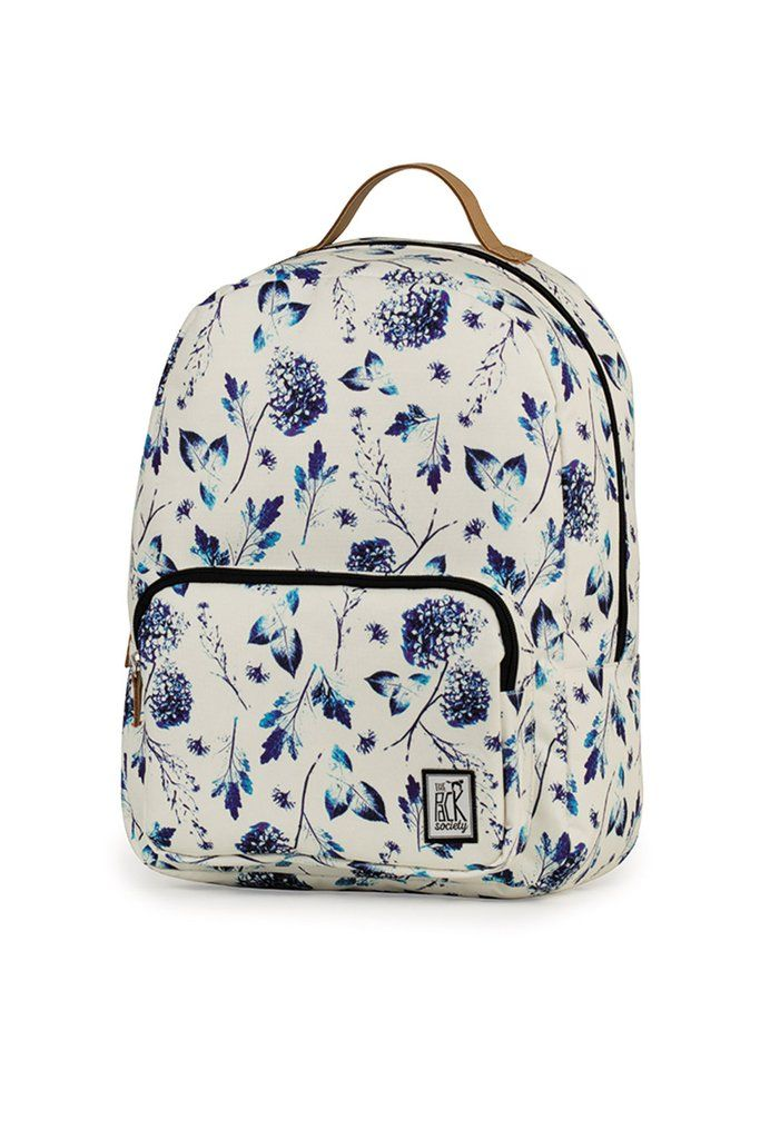 17717284afc0 CLASSIC BACKPACK OFF WHITE BLUE FLOWERS