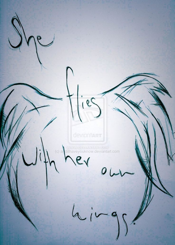 Pi Phi angel- She flies with her own wings #piphi #pibetaphi