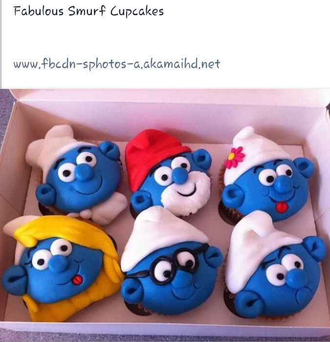 #Smurfs cupcakes.. for me and my sweet friend Hayley! FOR MY FRIEND---SECRET NAME SMURFETTE.....