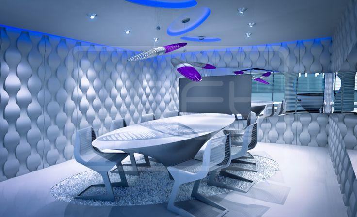 Decorative Panels 3D - Loft Design System - Model 16 - RAIN DROP  ...conference room like in the future!!! Three dimensional panels LOFTSYSTEM!