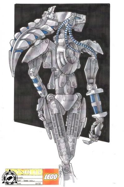 Bionicle 3: Web of Shadows - Roodaka back view concept art