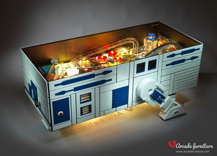 A unique designer masterpiece from the Arcade Furniture. Made from the renewed playfield of the Star Wars pinball by Data East from 1991. For more info visit: www.arcadefurniture.com  or http://www.facebook.com/pages/Arcade-Furniture/208886032582245
