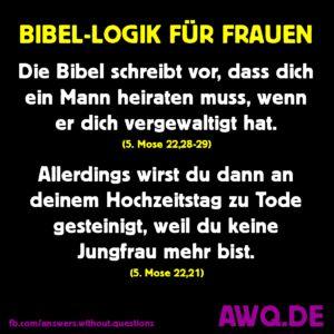 Bibellogik für Frauen   – AWQ.DE Meme