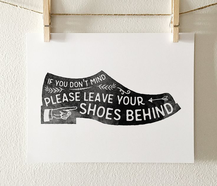 Shoes off sign Remove your shoes PRINTABLE art Mud room