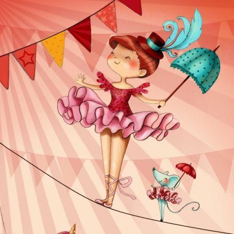 """""""Au cirque"""" Illustration Emmanuelle Colin """"La Fiancée au beurre salée"""""""