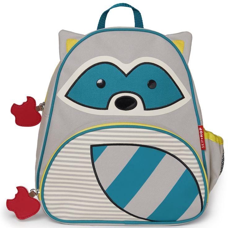 Le sac à dos enfant Zoo raton laveur de la marque Skip Hop permet de transporter les affaires de l'enfant ainsi que son goûter ou son repas. Parfait pour tout avoir à portée de main.