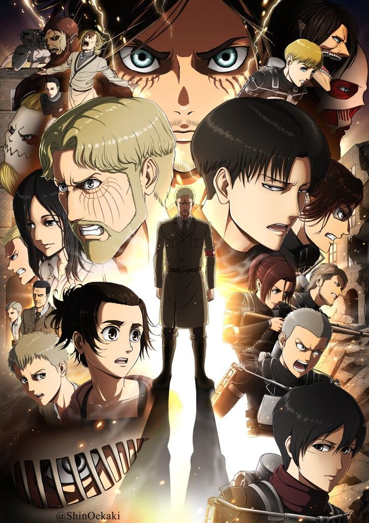 Attack On Titan Poster Aot Ss4 In 2020 Attack On Titan Anime Attack On Titan Season Attack On Titan Fanart