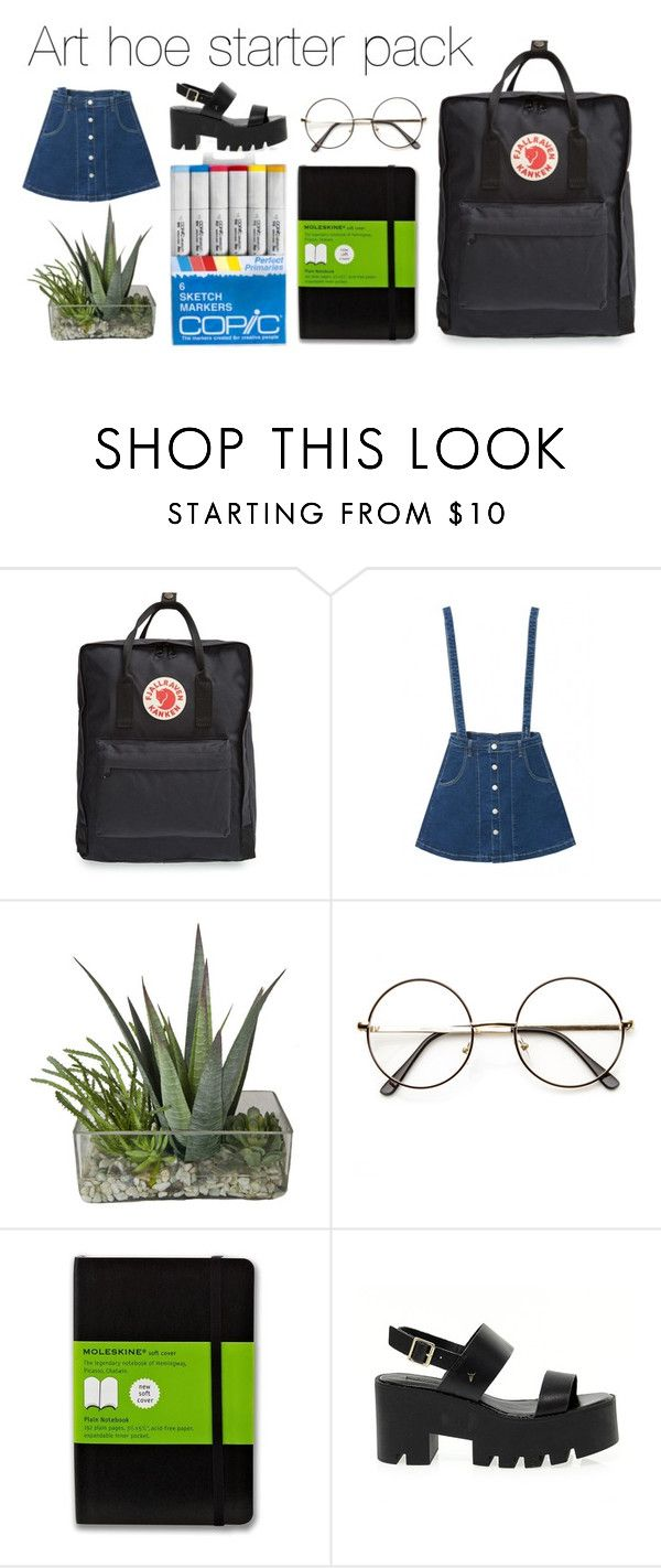 """""""Art hoe starter pack"""" by madison-caissie ❤ liked on Polyvore featuring Fjällräven, Moleskine and Windsor Smith"""