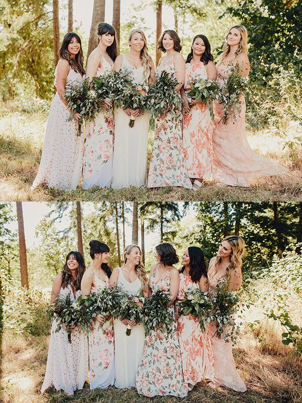 bright and bold florals for this bridesmaid squad | photos by Taylor Roades