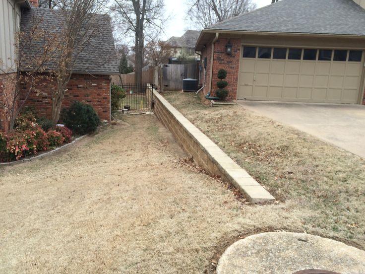 Concrete Block Retaining Wall Installation In Tulsa