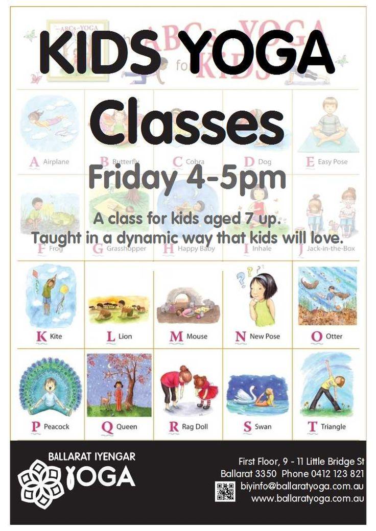 Yoga for Kids 4-5pm Fridays #kidsyoga #ballaratyoga