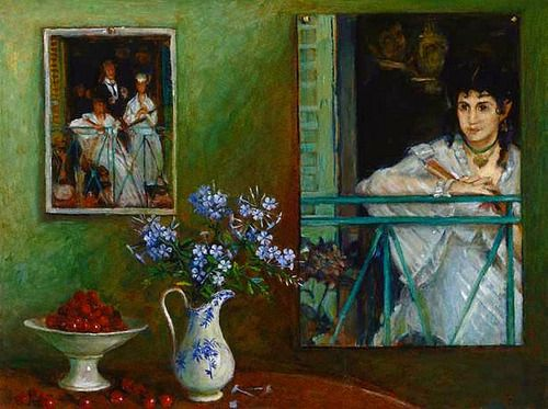 Margaret Olley Homage to Manet 1990. My favourite painting of my favourite artist!