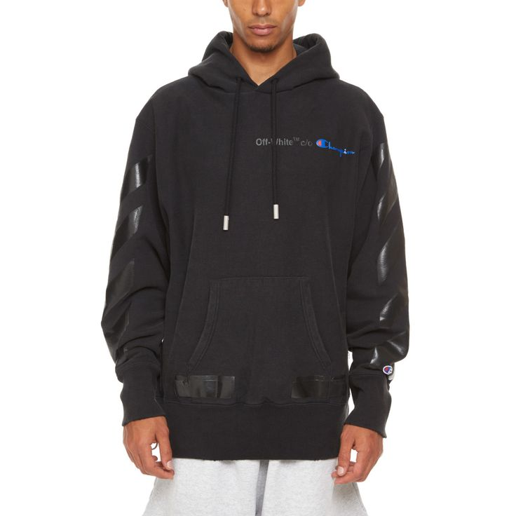 Champion hoodie from the S/S2018 Off-White c/o Virgil Abloh collection in black