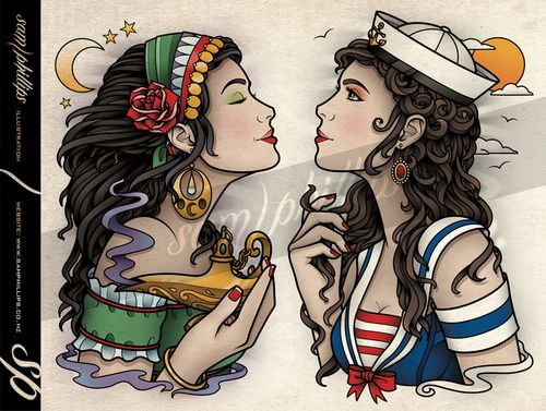 17 best ideas about gypsy tattoos on pinterest gypsy for Sailor jerry gypsy tattoo